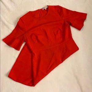 Loft Red Dress - Flair Sleeve, Business Attire